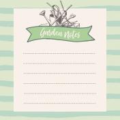 Garden Tales Journal Cards- Garden Notes 4x4