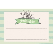 Garden Tales Journal Cards- Garden Notes 4x6