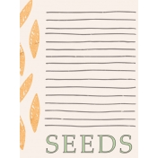 Garden Tales Journal Cards- Seeds 3x4