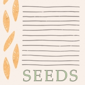 Garden Tales Journal Cards- Seeds 4x4