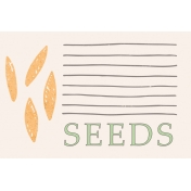 Garden Tales Journal Cards- Seeds 4x6
