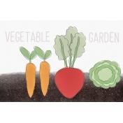 Garden Tales Journal Cards- Vegetable Garden 4x6