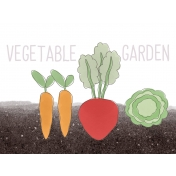 Garden Tales Journal Cards- Vegetable Garden 3x4