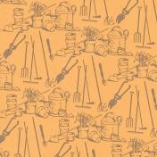 Garden Tales Papers- Garden Tools Paper