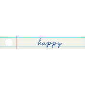 PS Good Vibes Happy Word Art Tag