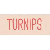 Garden Tales WordArt- Turnips