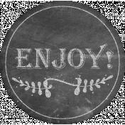 Food Day- Enjoy Chalk Label