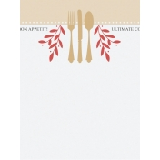 Food Day- Cutlery Journal Card 3x4