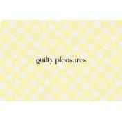 Food Day- Guilty Pleasures Journal Card 4x6