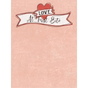 Food Day- Love at First Bite Journal Card 3x4