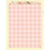 Food Day- Gingham Journal Card 3x4