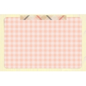 Food Day- Gingham Journal Card 4x6