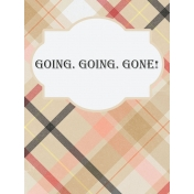 Food Day- Going, Going, Gone Journal Card 3x4