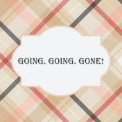 Food Day- Going, Going, Gone Journal Card 4x4