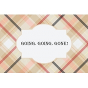 Food Day- Going, Going, Gone Journal Card 4x6