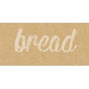 Food Day- Bread Word Art