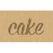 Food Day- Cake Word Art