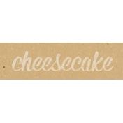 Food Day- Cheesecake Word Art