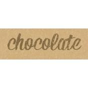 Food Day- Chocolate Word Art