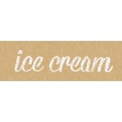Food Day- Ice Cream Word Art