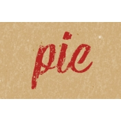 Food Day- Pie Word Art