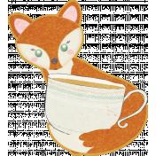 Fall Flurry Fox Holding Teacup