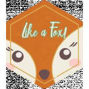 Fall Flurry Hexagon Fox Tag
