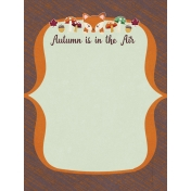 Fall Flurry Autumn is in the Air Journal Cards 3x4