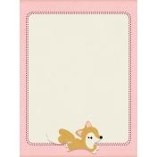Fall Flurry Fox Journal Card 3x4