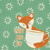 Fall Flurry Paws and Sip Journal Card 4x4