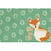 Fall Flurry Paws and Sip Journal Card 4x6