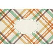 Fall Flurry Plaid Journal Card 4x6