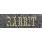 Petting Zoo Rabbit Word Art