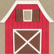 Petting Zoo Barn Journal Card 4x4