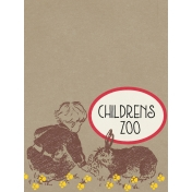 Petting Zoo Feeding Rabbit Journal Card 3x4