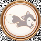 Fall Flurry Mini Kit Porcelain Fox Button