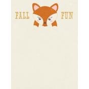 Fall Flurry Fall Fun Journal Card 3x4