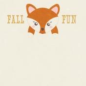 Fall Flurry Fall Fun Journal Card 4x4