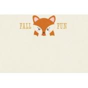 Fall Flurry Fall Fun Journal Card 4x6