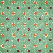 Fall Flurry Foxes and Butterflies Green