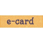Digital Day E-Card Word Art