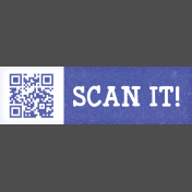 Digital Day QR Code Scan It! Word Art