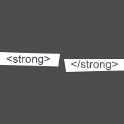 Digital Day Strong Word Art Snippets