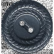 Harvest Pie Dark Blue Bue Button