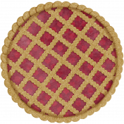 Harvest Pie Lattice Red Pie