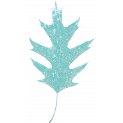 Elegant Autumn Teal Frosty Leaf