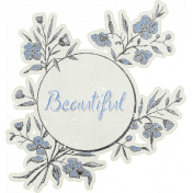 Elegant Autumn Flower Sticker- Beautiful