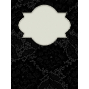 Elegant Autumn Lace Journal Card 3x4