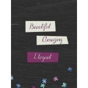 Elegant Autumn Wood Journal Card 3x4