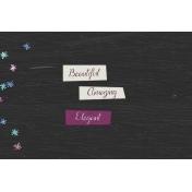 Elegant Autumn Wood Journal Card 4x6